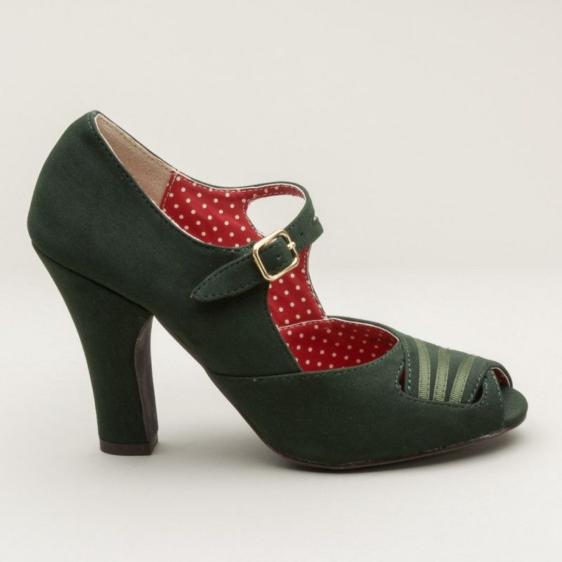 Violet Art Deco Mary Janes by b.a.i.t. (Emerald)