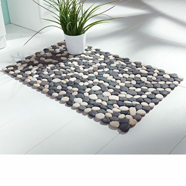 Steine Teppich Badezimmer | Einrichtungsideen | Pinterest, Badezimmer