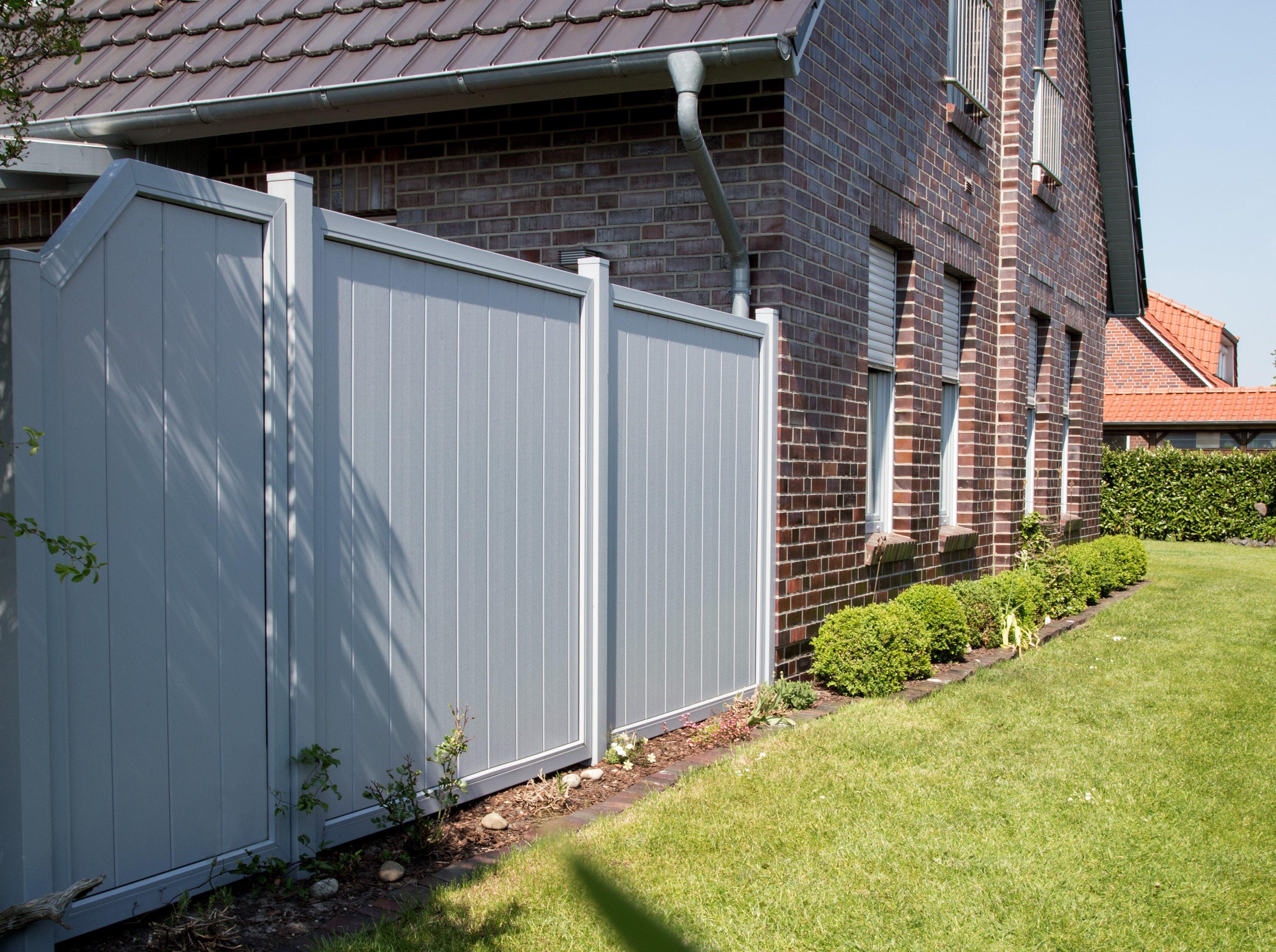 Große Modellvielfalt BasicLine PVC Sichtschutz in Silbergrau Nie