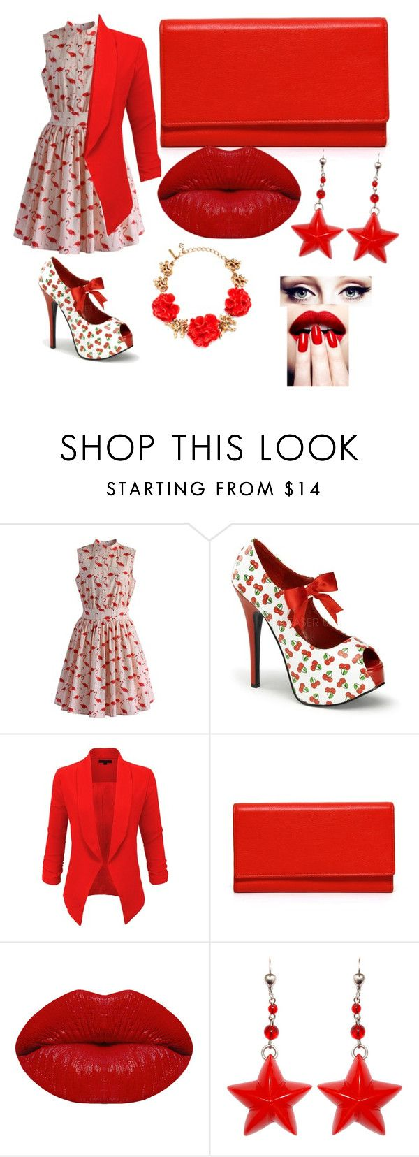 """""""red mano derinukas"""" by tiesiog-austeja-nesvarbu ❤ liked on Polyvore featuring Chicwish, LE3NO, Carré Royal, Winky Lux, Oscar de la Renta and Nails Inc."""