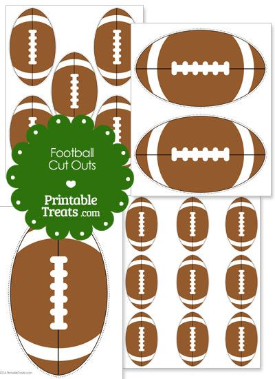 Printable football cut outs from for Football cutout template