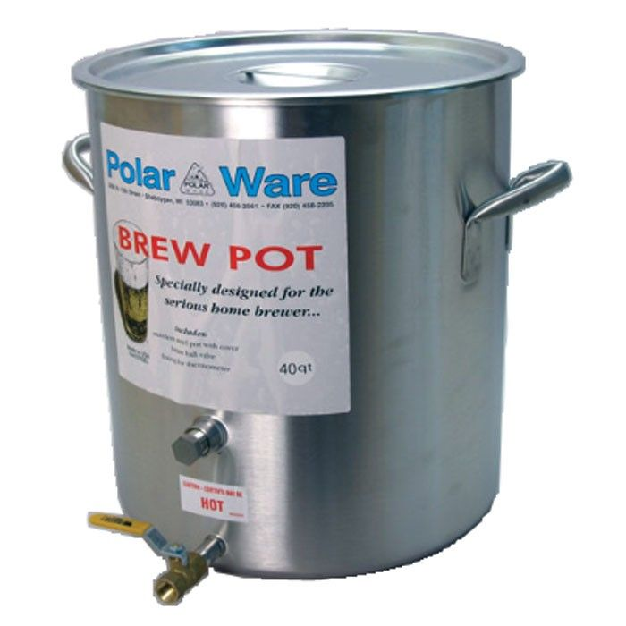 Polar Ware Stainless Steel Brewing Pot With Spigot 10 Gallon Brew Kettles Boiling Equipment Br Home Brewing Equipment Wine Making Supplies Home Brewing