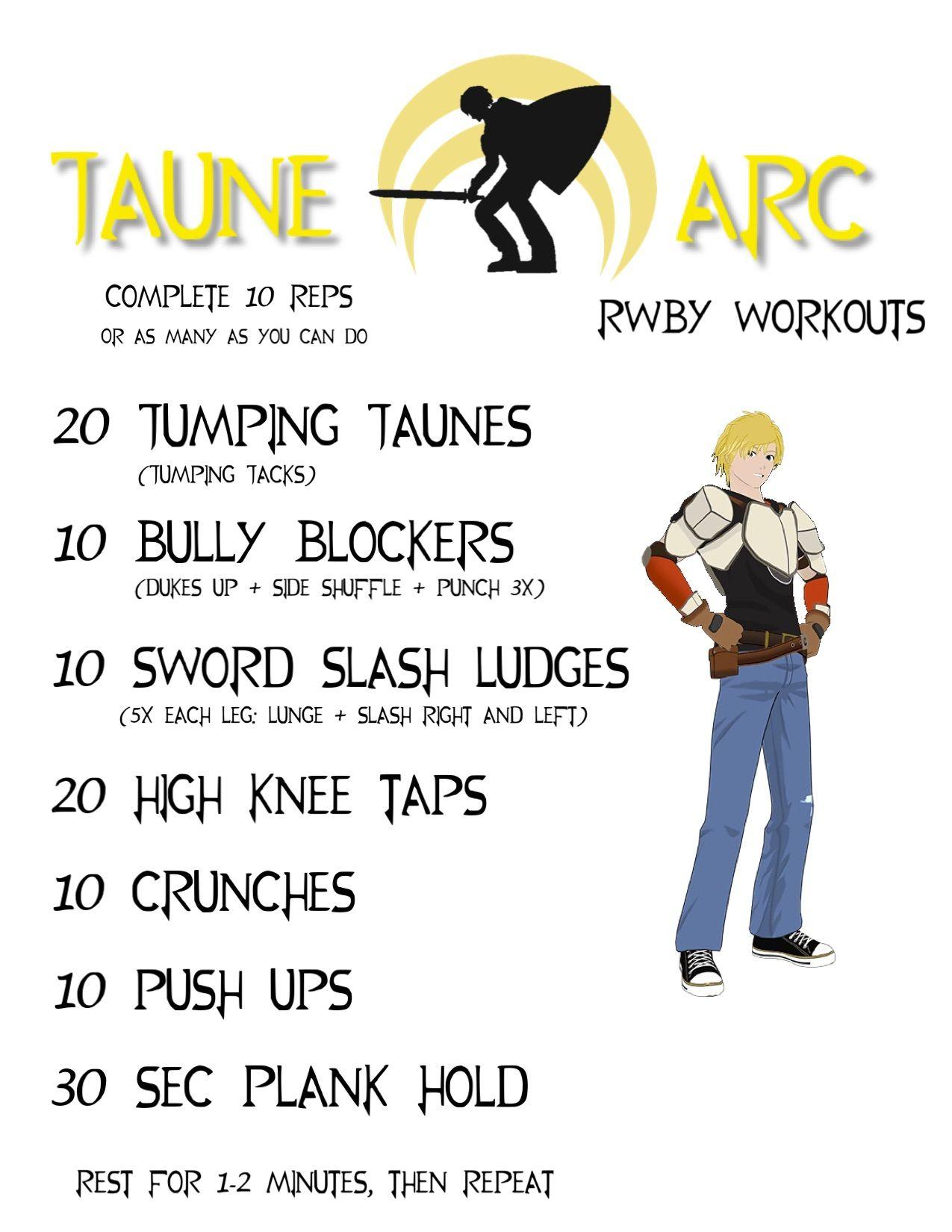 rwby workout