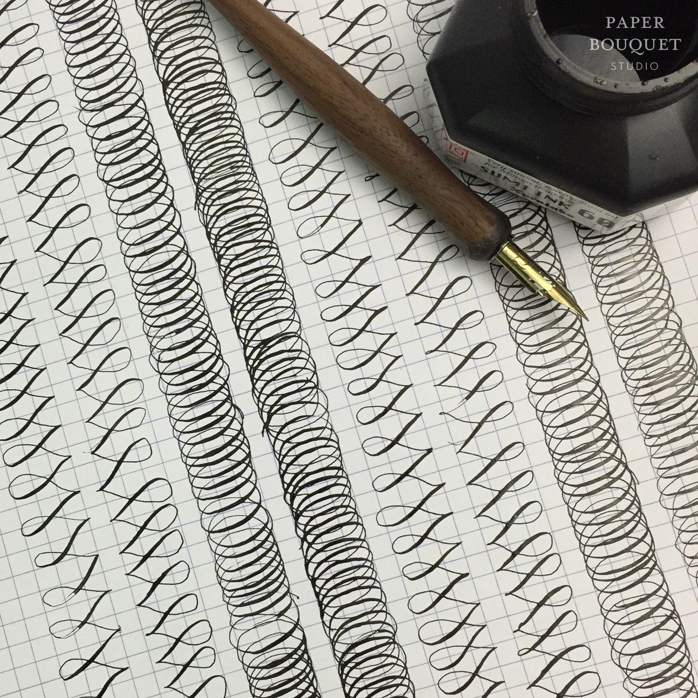 Flourishing Drills From Paper Bouquet Studio Calligraphy