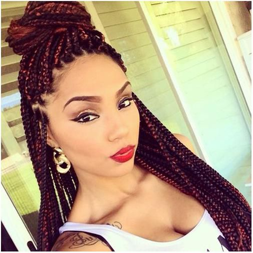 Best Black Braided Hairstyle with Puff | Hair | Pinterest | Black ...