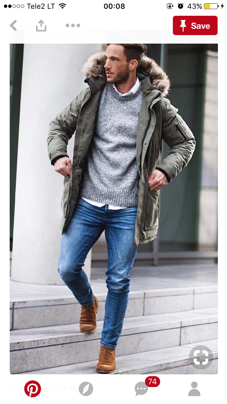 Men style parka layering fall   Style   Mens fashion, Winter outfits ... 37ccefb31f