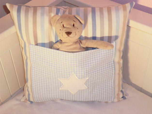 kissen kuschelb r kissen mit tasche kissen dawanda und designs. Black Bedroom Furniture Sets. Home Design Ideas