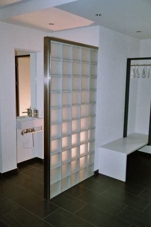 I Really Like The Use Of A Glass Block Wall To For Showers