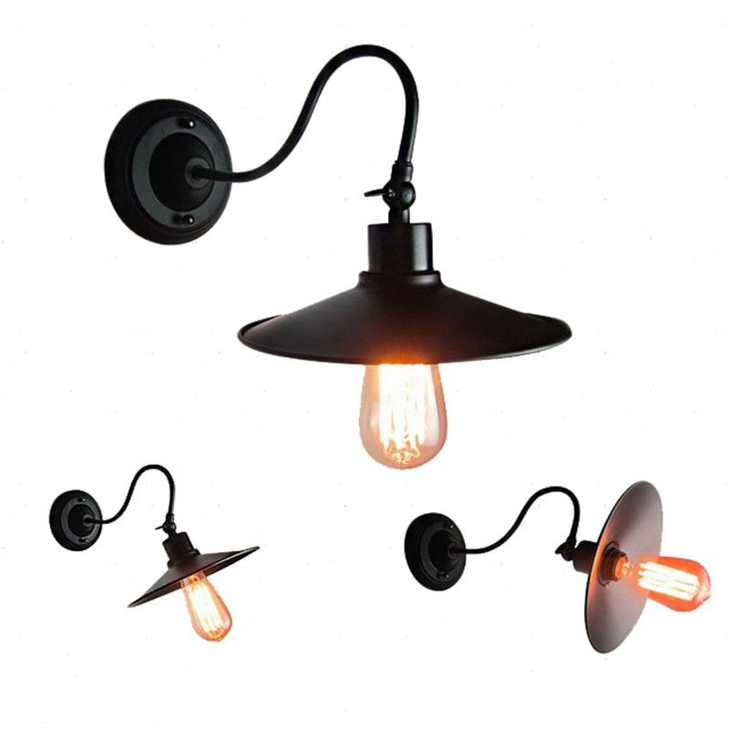 E27 american vintage retro industrial wind outdoor wall lamp creative iron wall light for cafe restaurant