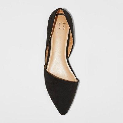 cb65c96cdec7 Women s Poppy d Orsay Pointed Toe Ballet Flats Merona - Black 7.5 ...