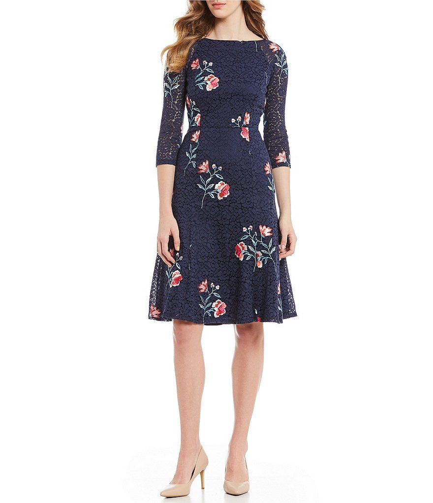 2916980545ee Eliza J Floral Print Lace A-Line Dress in 2019 | Spring cocktail ...
