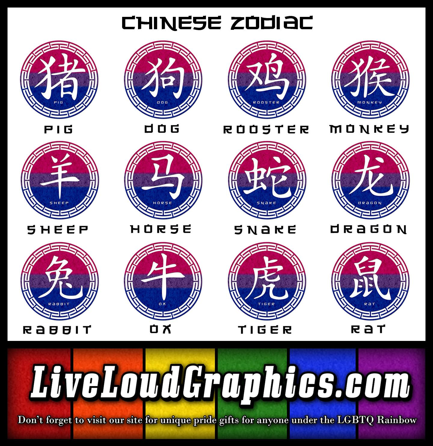 Celebrate Your Chinese Zodiac And Bisexual Pride With These Pride