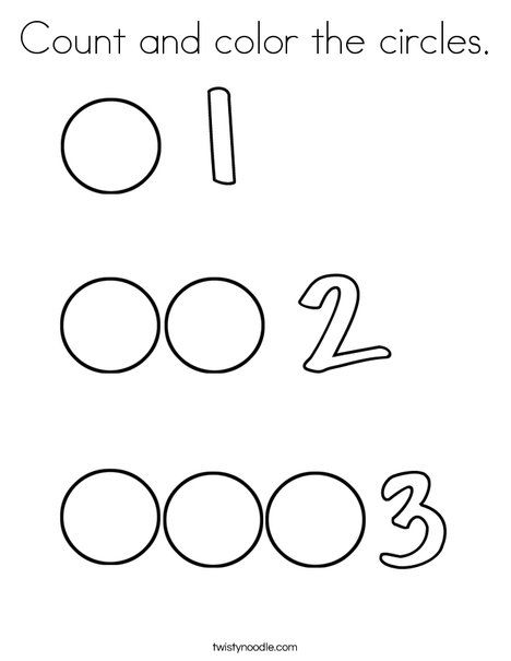 Count And Color The Circles Coloring Page Preschool Math Worksheets Tracing Worksheets Preschool Fun Worksheets For Kids