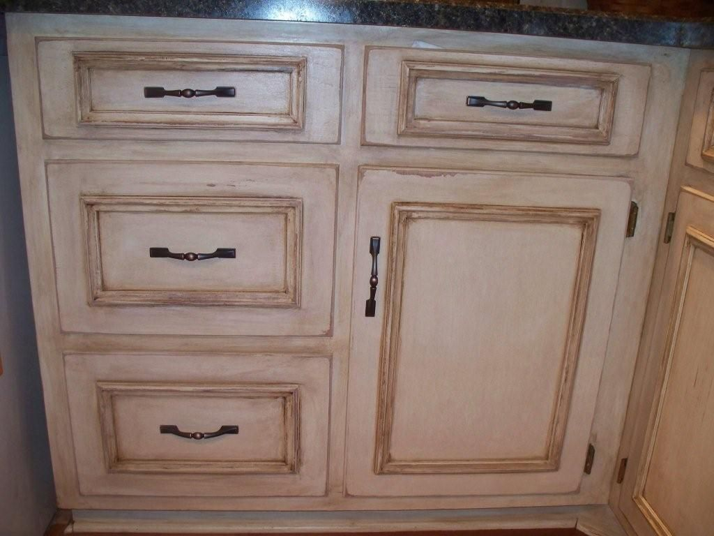 before and afters – clients paint and glaze their kitchen cabinets