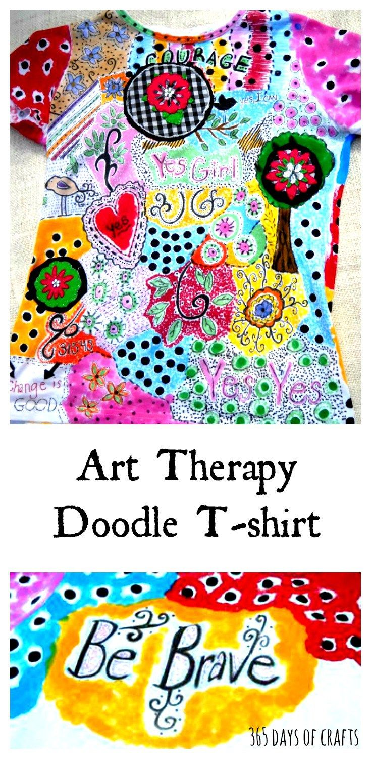 Make An Art Therapy Doodled T Shirt With Fabric Markers Fashion 31