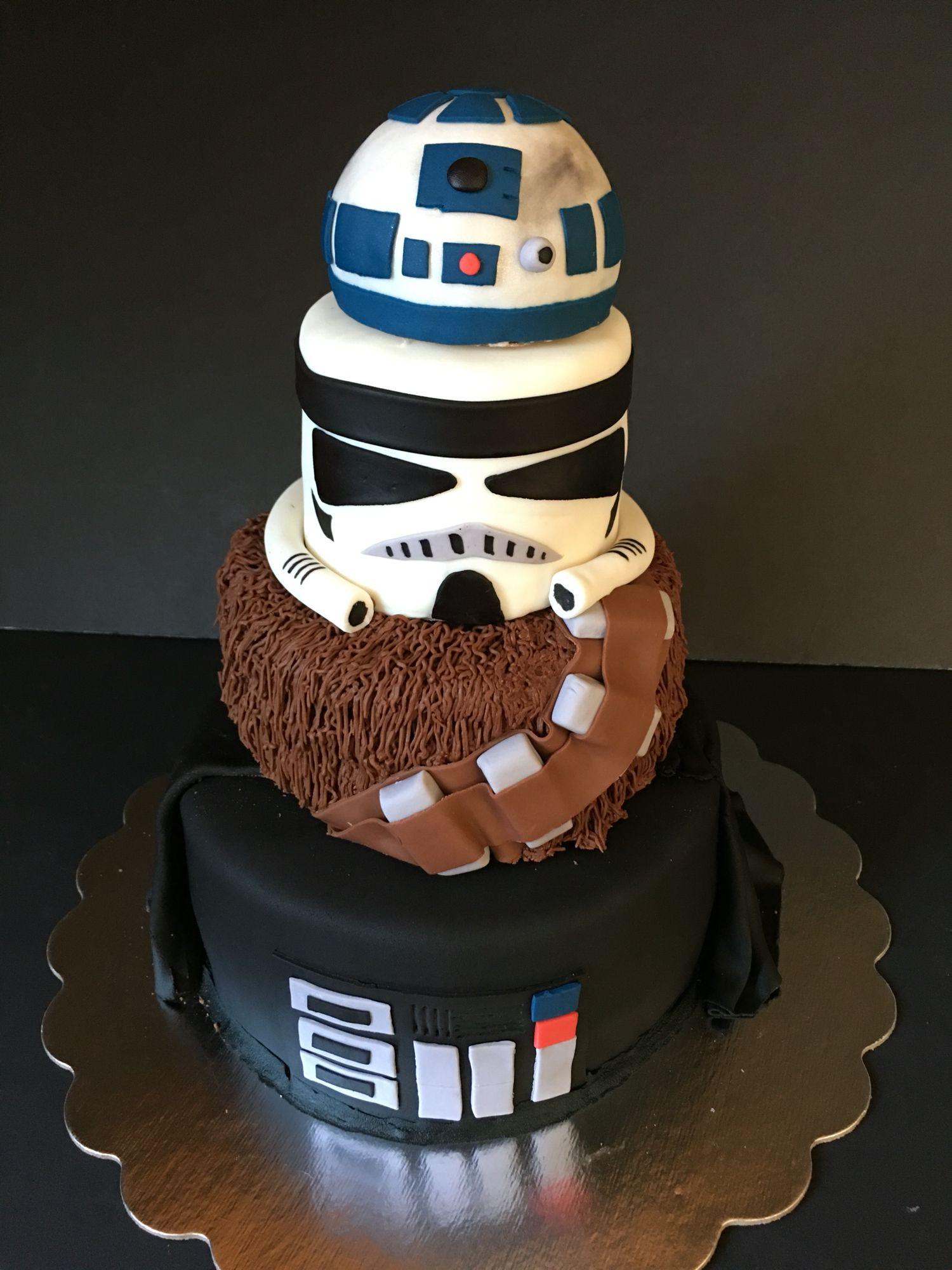 Jdcsweets Star Wars Cake Fourthbirthday Thefourthwasstrong Tieredstarwarscake Tieredcake R2d2 St Star Wars Cake Toppers Star Wars Cake Star Wars Cupcakes