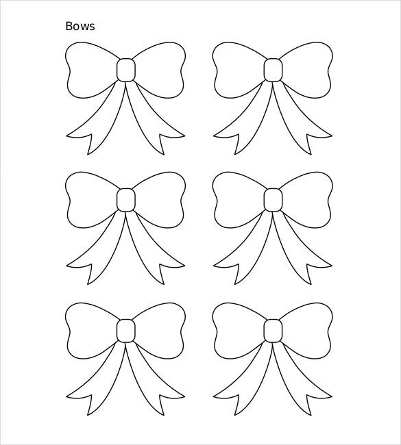 10 Paper Bow Templates Free Sample Example Format Premium