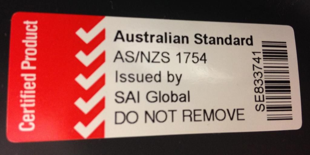 AS/NZA 1754 Label is required on all Australian car seat for taking it onboard. Virgin Australia has new regulations with new requirements. Check out details on my Flying with a Car Seat post.