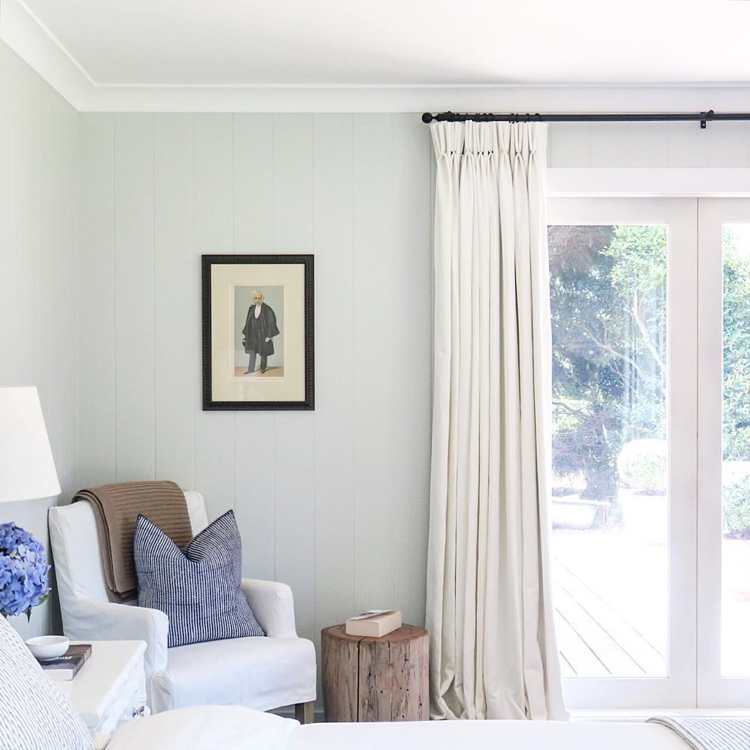50 Sleigh Bed Inspirations For A Cozy Modern Bedroom: Country House Style. Shiplap Walls, White Linen Curtains