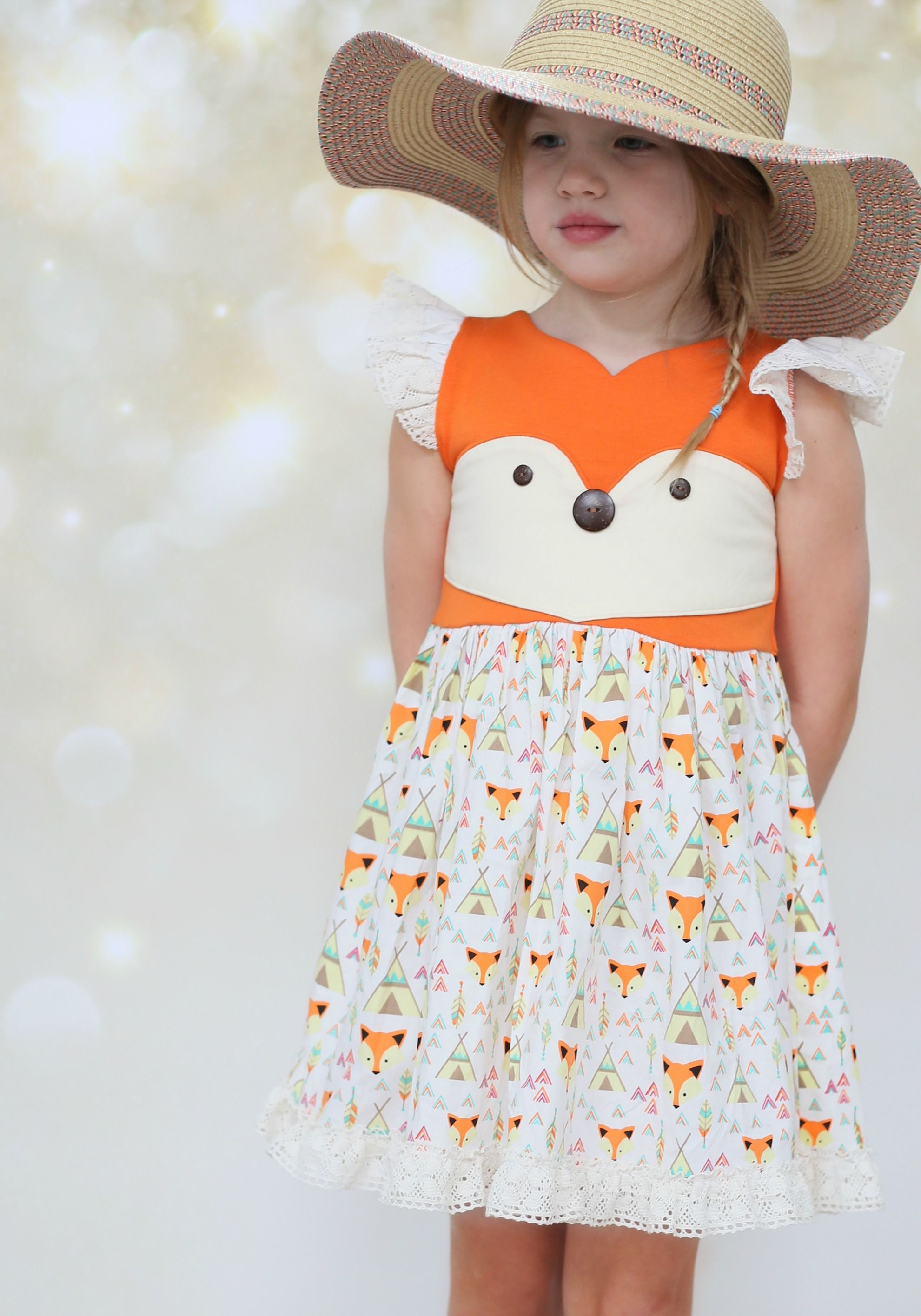 "Foxy"" Dress PREORDER Be Girl Clothing girl clothing baby clothing"