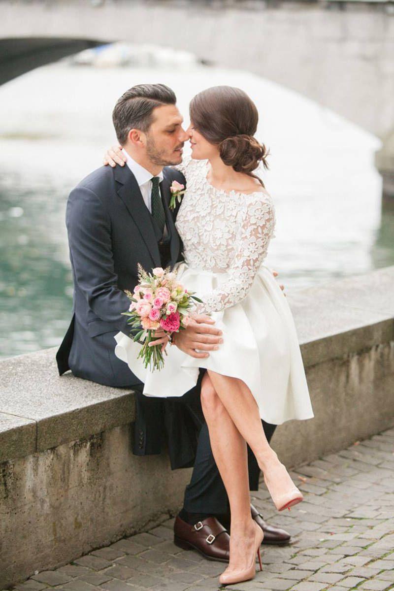 incríveis vestidos de noiva curtos para você que é baixinha