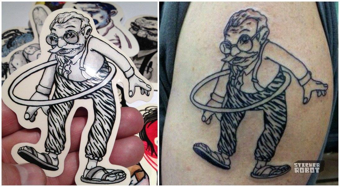 Travis millard custom tattoo sticker