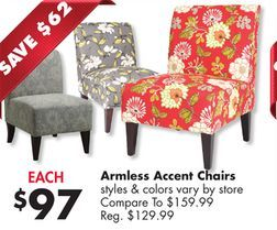 Tremendous Armless Accent Chairs From Big Lots 97 00 Save 62 Compare Gmtry Best Dining Table And Chair Ideas Images Gmtryco