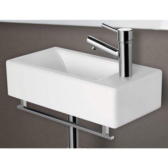 Photo of ALFI brand AB108TB 17″ Square Chrome Towel Bar For AB108 Bathroom Sink