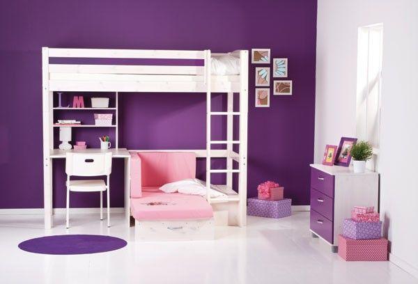 flexa basic hochbett casa trendy mit gerader leiter wei m bel hochbett bett und kinderzimmer. Black Bedroom Furniture Sets. Home Design Ideas