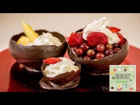 Making Edible chocolate bowl - YouTube