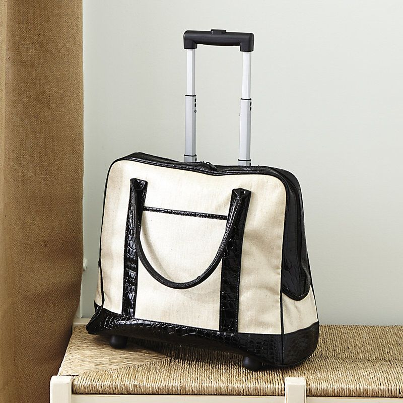 Waxed Linen Rolling Travel Tote