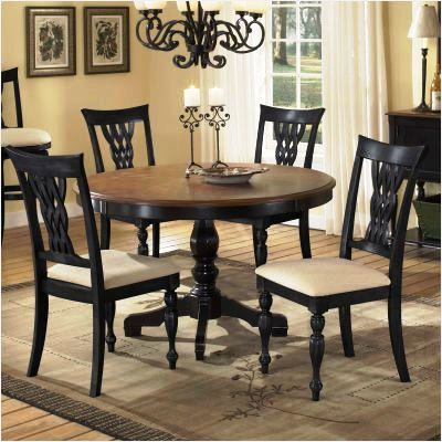 Or, dark base and chairs and lighter tabletop For the Home