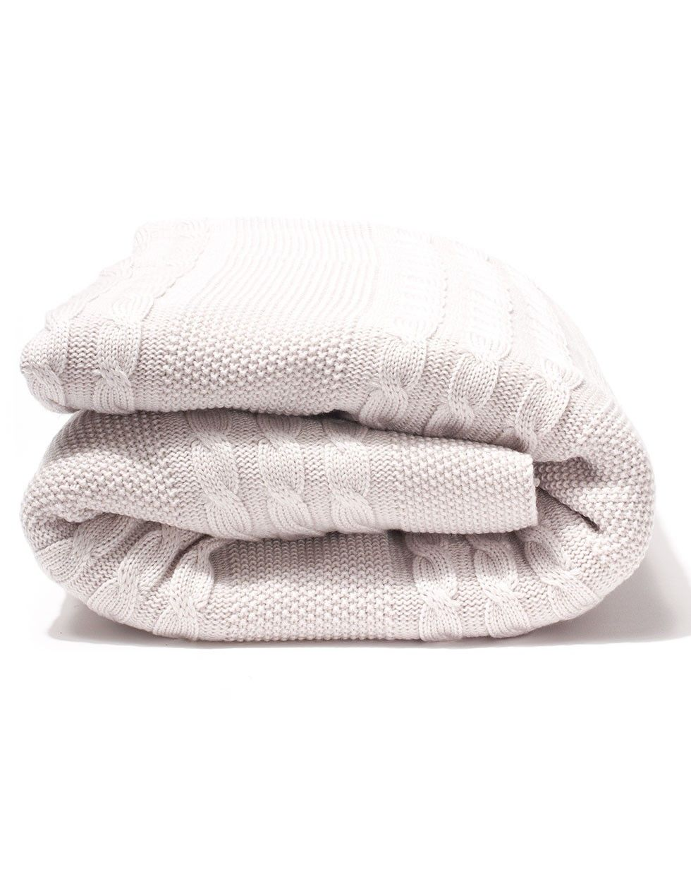 Cable Knit Large Blanket - Oatmeal - Throws and Blankets - Homeware - Accessories