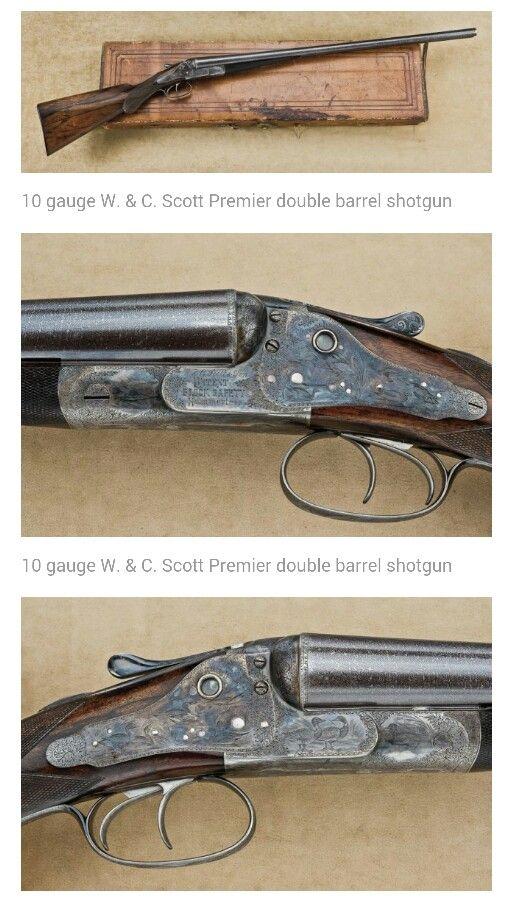 10 Guage W  & C  Scott Premier double barrel shotgun   Guns