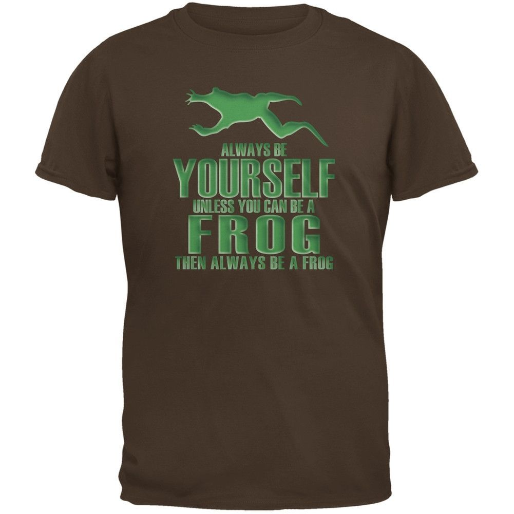 Always Be Yourself Frog Brown Youth T-Shirt