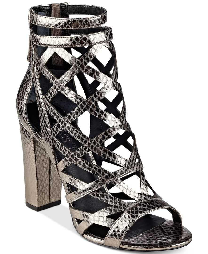 f7b2a2576086 Guess Women s Eriel Cage Sandals
