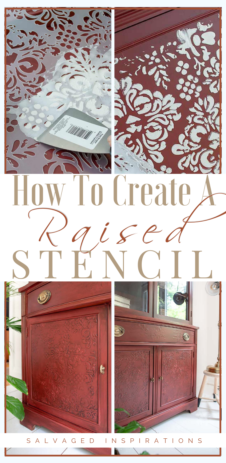 An easy step by step stencil embossing tutorial on how to add gorgeous textured detail on your