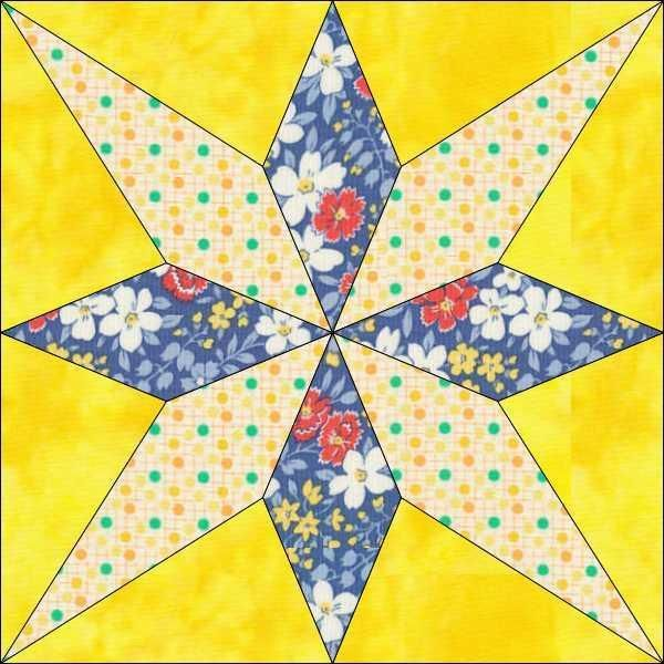 My Star Block 6 Inch And 12 Inch By Onedaisystudio Craftsy Quilt Block Patterns 12 Inch Pinwheel Quilt Block Quilt Patterns