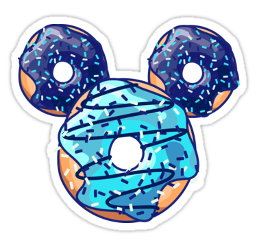 """""""Pop Blue Donut"""" Stickers by XOOXOO   Redbubble"""