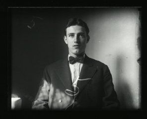 The sad tale of Bonny Benny Gilbert. He shot his baby down in Norfolk, 1908, and was sentenced to death by electrocution in 1909. Photograph of Benjamin Gilbert, 5th person executed at the Virginia Penitentiary, Records of the Virginia Penitentiary, Series II. Prisoner Records, Subseries B. Photographs, Box 23, Accession 41558, State Records Collection, Library of Virginia.