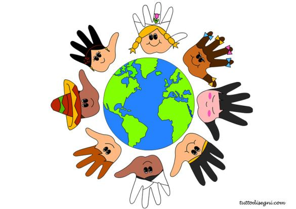 Disegni Da Colorare Di Bambini Intorno Al Mondo.Bambini Intorno Mondo Bambini Disegni Bambini E Le Idee