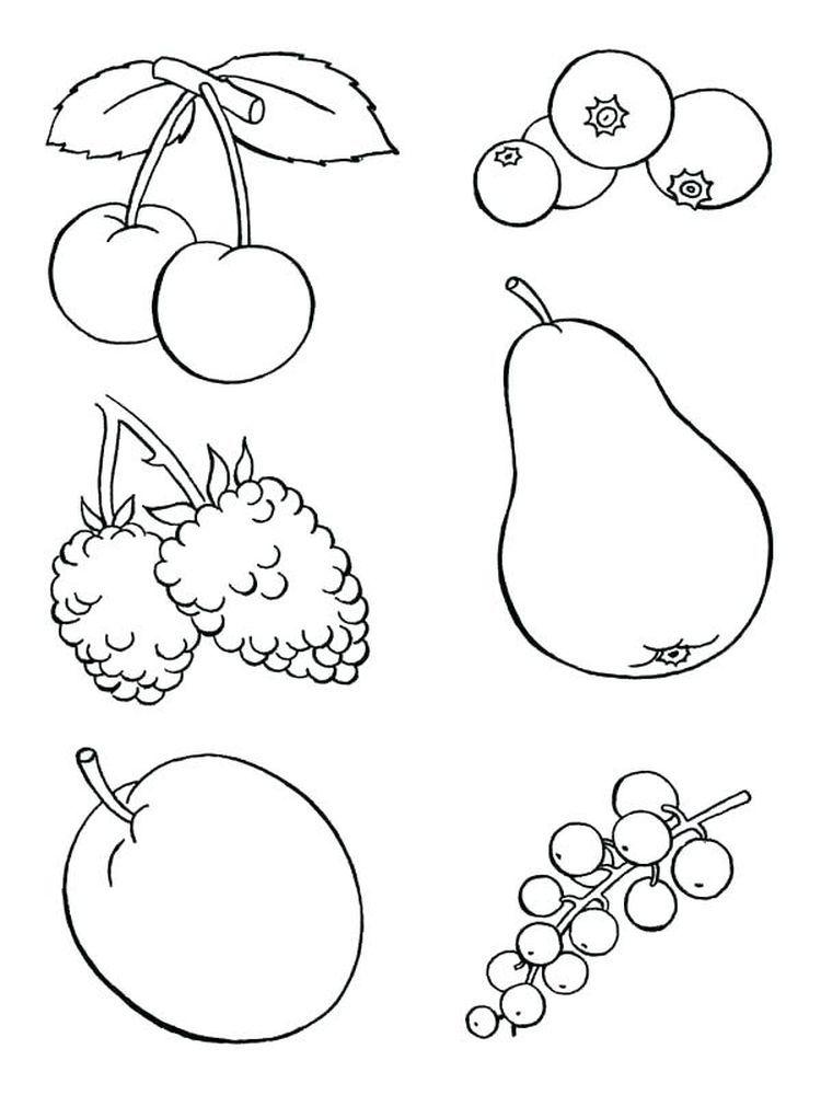 Food Coloring Pages Printable di 2020 (Dengan gambar)