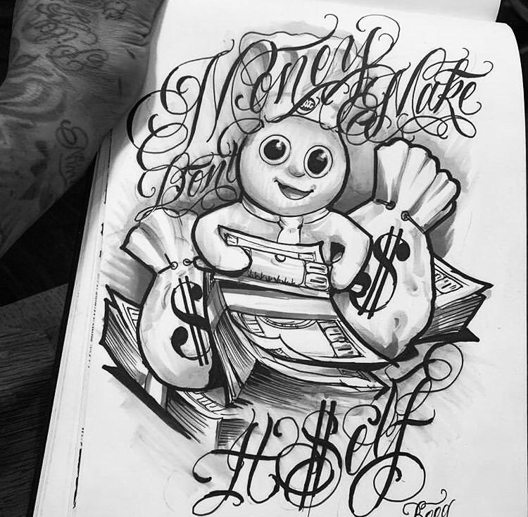 Gangster Cartoon Tattoo Designs Cartoon Tattoos Tattoo Designs Tattoo Design Drawings