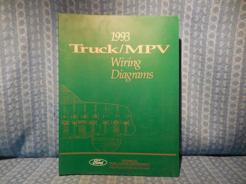 Details About 1993 Ford Truck Oem Wiring Diagrams F150