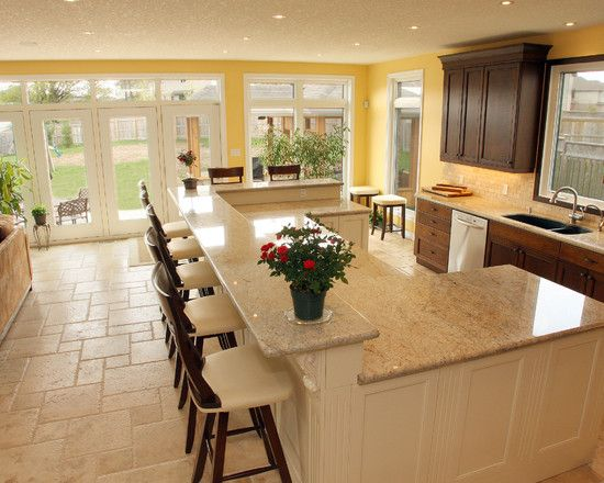 Multi Level Kitchen Island Pictures Traditional Kitchen Multi-level Kitchen Island Design