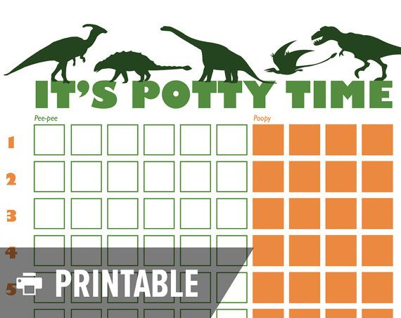 Potty Training Chart Dinosaur ItS Potty By Rebeccahartdesign