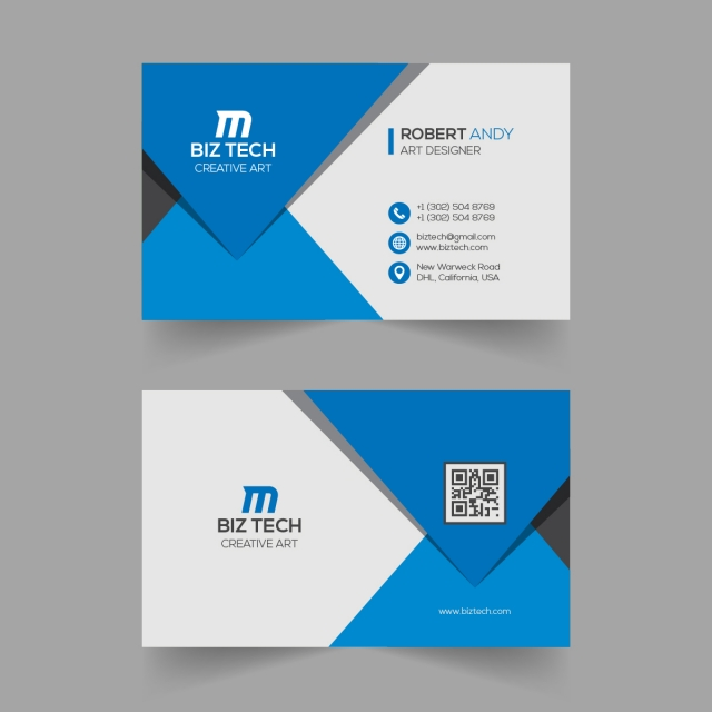 Stylish Dark Blue Business Card Template Blue Business Card Business Card Template Photographer Business Cards