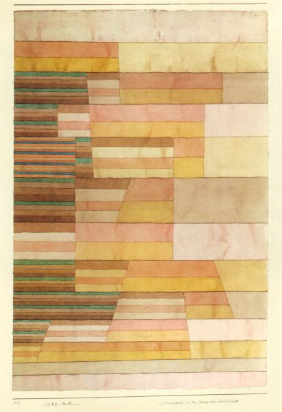 Monument on the Border of the Fertile Country - Paul Klee,   1929   Pen and watercolour on paper.   Rosengart Collection, Lucerne
