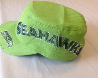 new arrivals 0f1ce 0ac70 ... buy rhinestone seattle seahawks lime green military hat cap military cap  running back seattle seahawks b1fc8