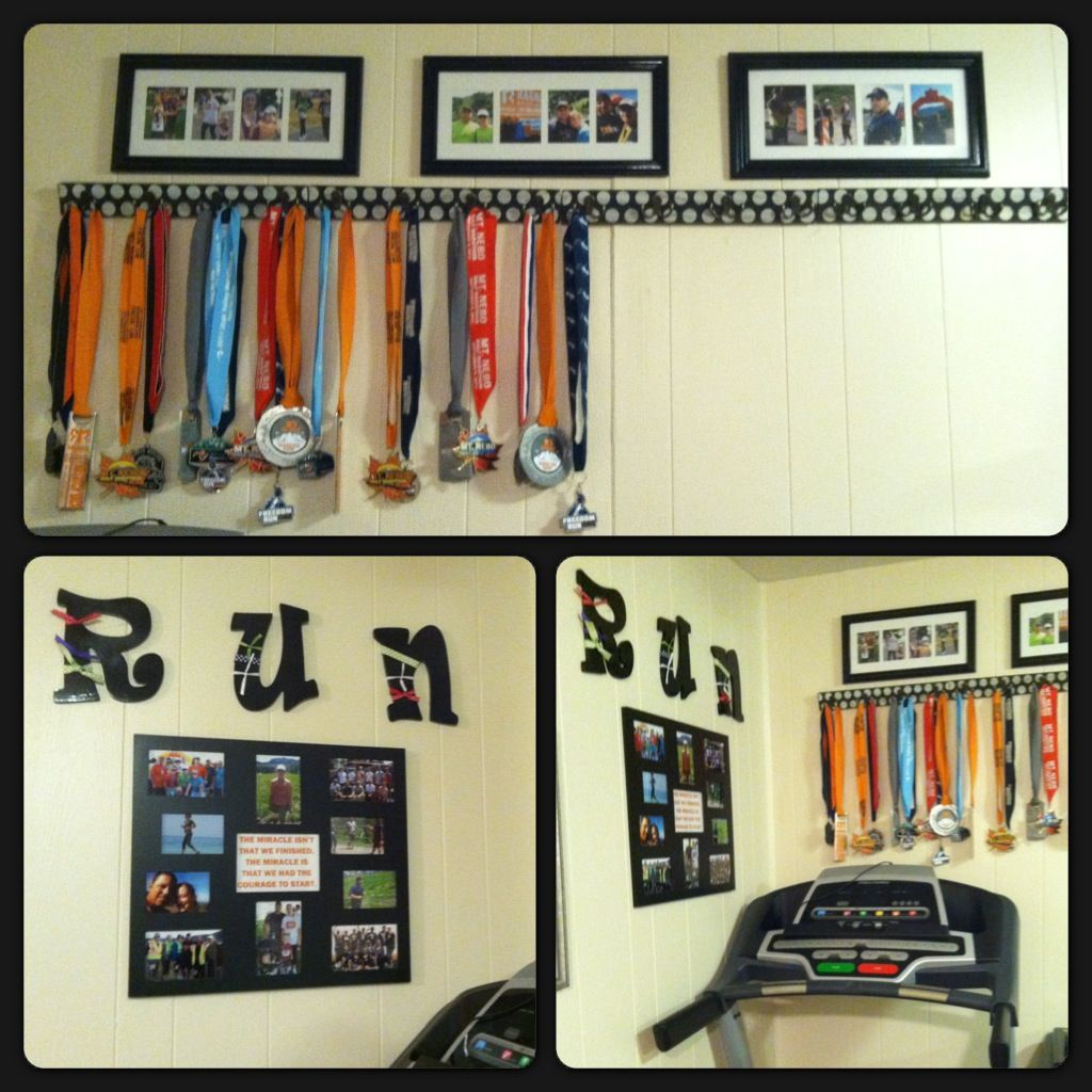 Running scrapbook ideas - Running Training Display Ideas My Son Cute Ideas Ideas Para Runners Race Medal Displays Trophy Display Medal Holders